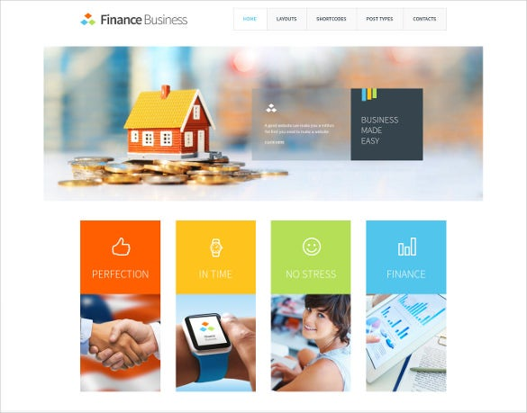 accounting finance wordpress template