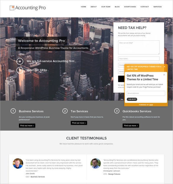 accounting pro wordpress theme