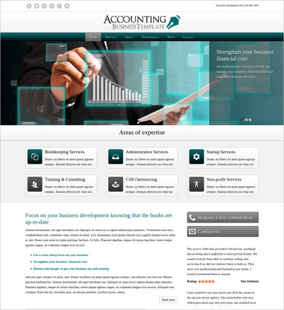 accounting business wordpress template