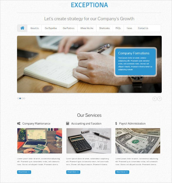 accounting company responsive wordpress templat