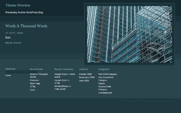 free accounting wordpress template