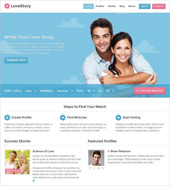dating membership wordpress template