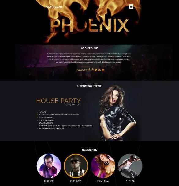 night club membership wordpress theme