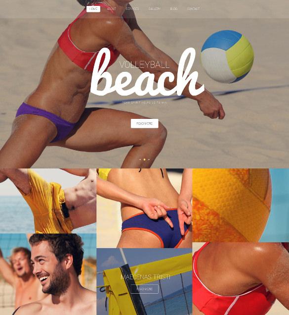 beach volleyball club membership wordpress template