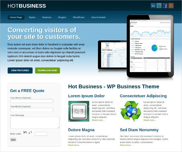 business membership wordpress template