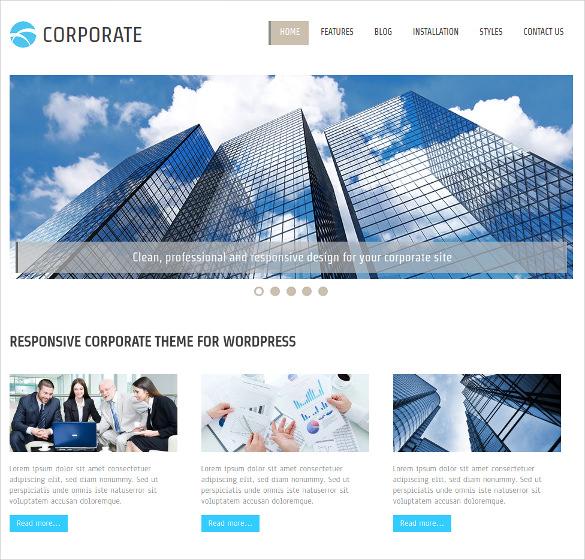 corporate membership wordpress theme