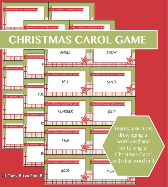 printable christmas games for a crowd