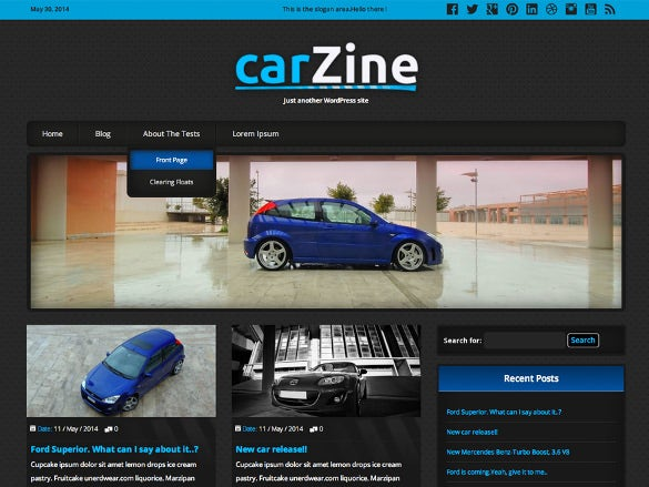 free car deaker wordpress theme