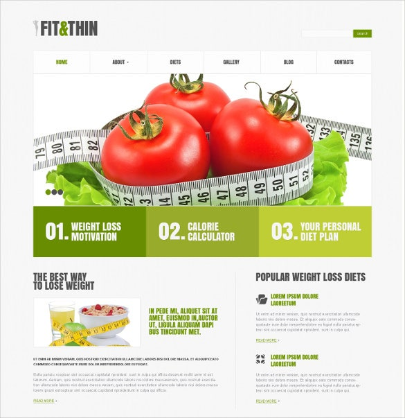 14+ Diet & Nutrition WordPress Templates & Themes | Free & Premium ...