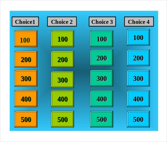 jeopardy template for teachers - 10+ free word, pdf, ppt documents, Powerpoint templates