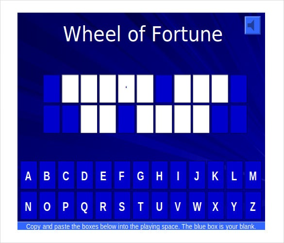 Blank jeopardy template free download jeopardy template for Wheel of fortune board template