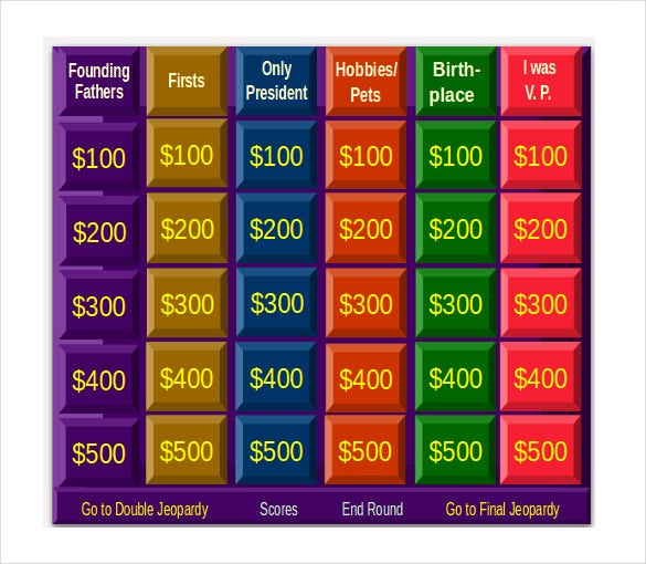 free jeopardy template - 8+ free word, pdf, ppt, documents, Powerpoint templates