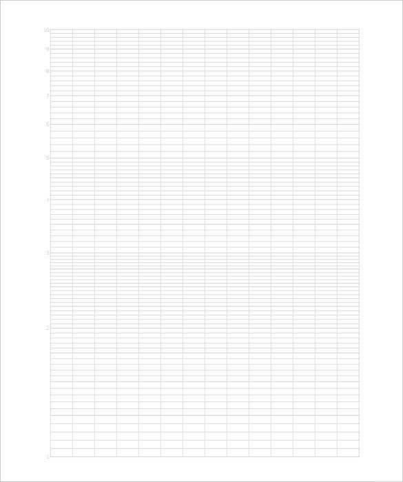 Large Graph Paper Template 10 Free PDF Documents Download – Graph Paper Template