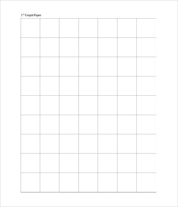 1 inch graph paper for kids word format