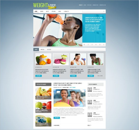 good diet diet nutrition wordpress theme 44