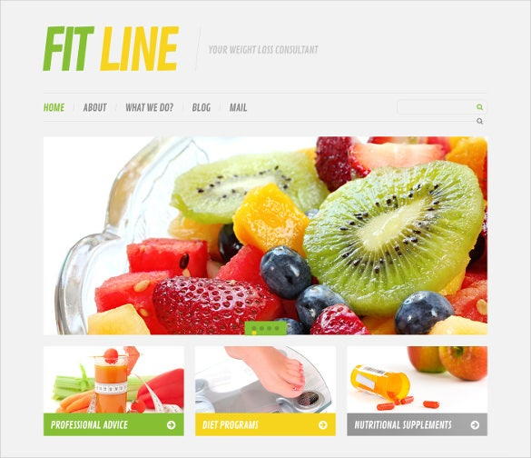 responsive diet nutrition wordpress theme
