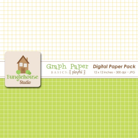 Digital Graph Paper Scrap Book Template Sample  Graph Paper Sample