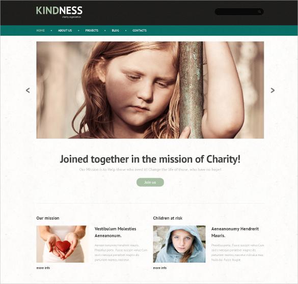 responsive child charity crowdfunding wordpress template