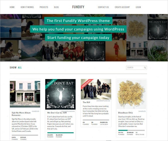 amazing crowdfunding wordpress template
