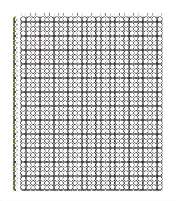 free download printable right angle weave 3x3 graph paper