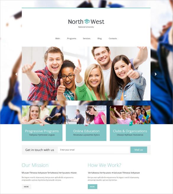 wordpress theme for universities