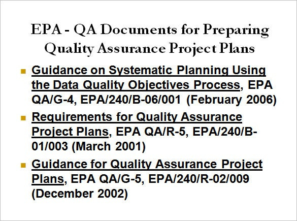 quality assurance project plan ppt free download