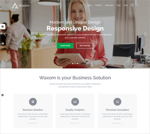 waxom clean universal wordpress theme