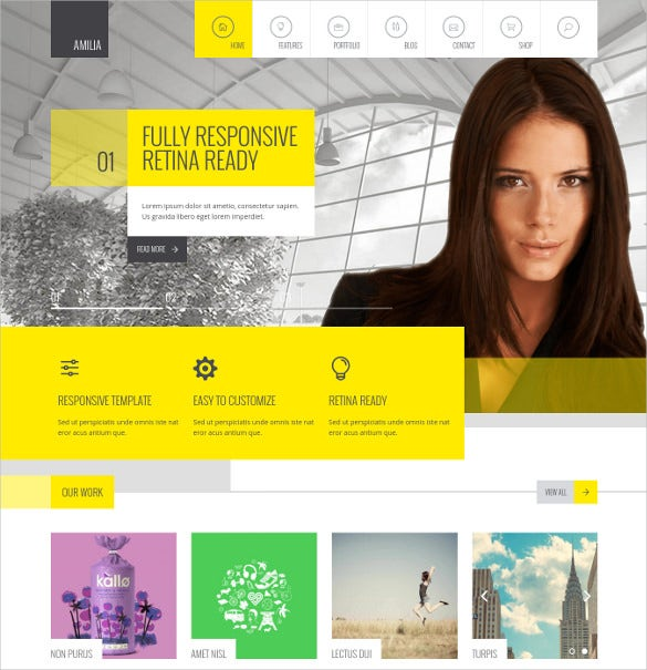 amilia multipurpose one multi page wp theme