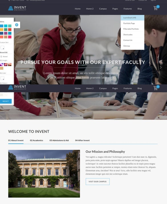 modern university wordpress theme