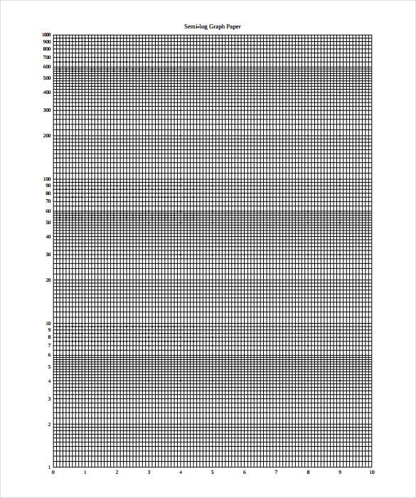 semi log scaled graph paper template pdf format