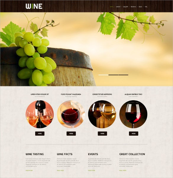 vintage wine responsive wordpress theme