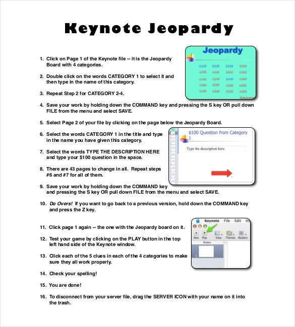 6+ Keynote Jeopardy Templates - Free Sample, Example, Format