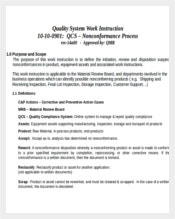 Amazing Quality System Work Instruction Throughout Instruction Template Word