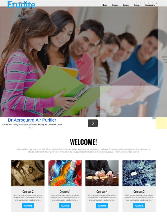 responsive university wordpress template
