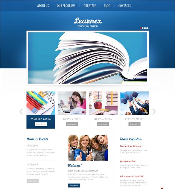 blue university wordpress theme