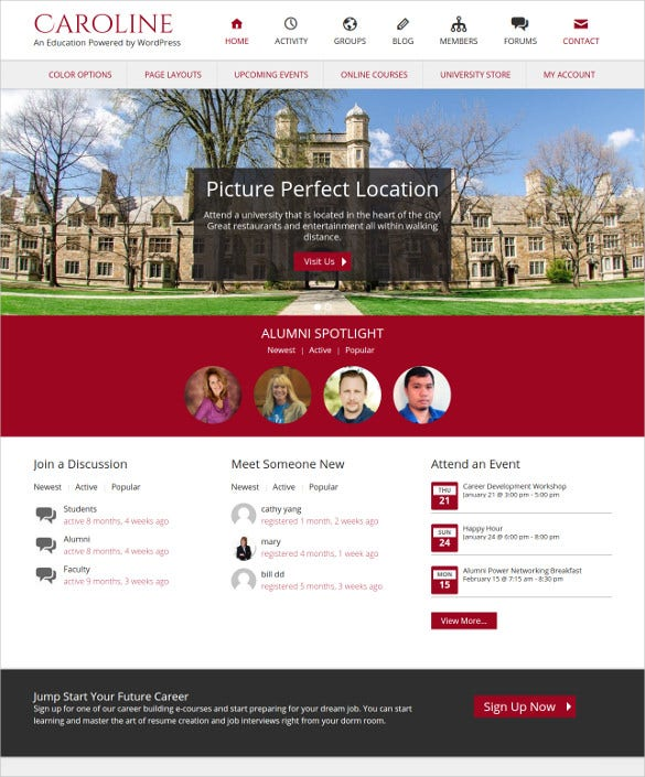 elegant university wordpress theme1