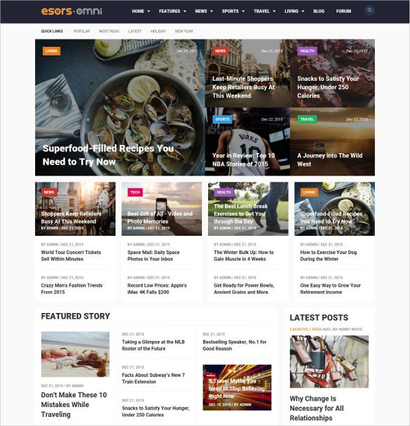omni multi purpose magazine style drupal theme