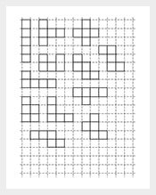 PENTOMINOES Graph Paper Template Pritanble  Graph Paper Word Document