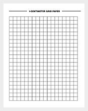 1 Centimeter Grid Graphing Paper Template Free  Graph Paper Sample