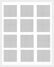 Mathematics Sample Grid Graph Paper Template  Graph Paper Sample