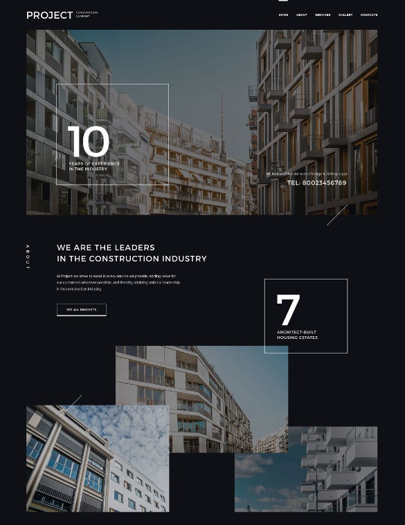 construction company responsive html5 website template