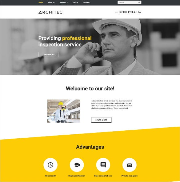 architec website html5 template