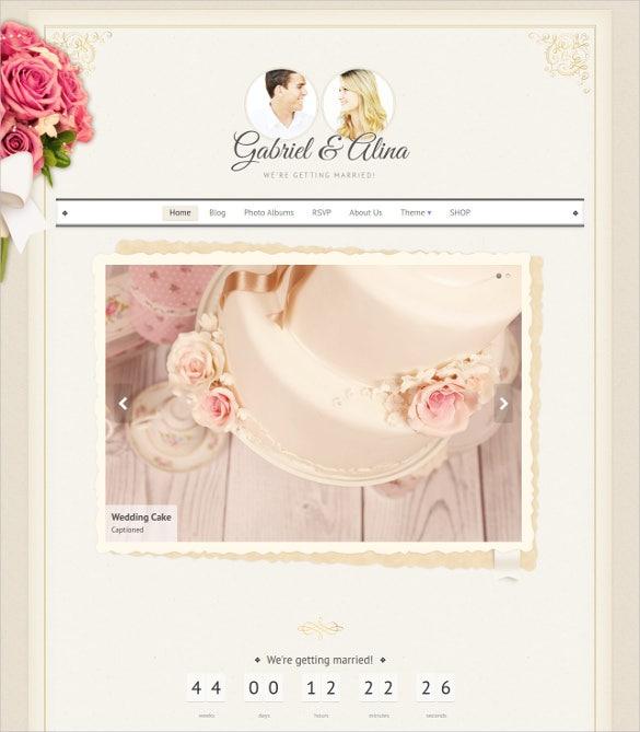 wedding vintage wordpress theme 391