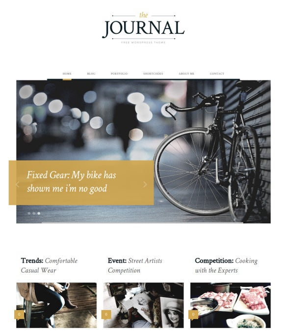 free journal vintage wordpress theme