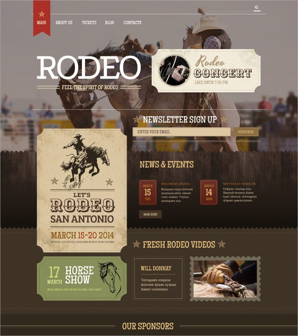 horse racing vintage wordpress theme