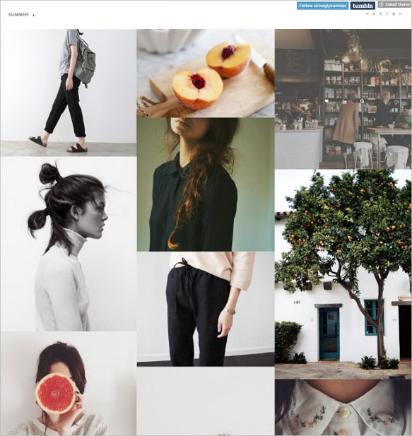 summer tumblr wordpress theme