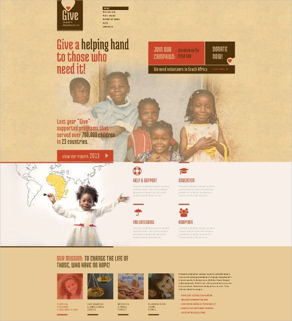 power of hope community vintage wordpress theme