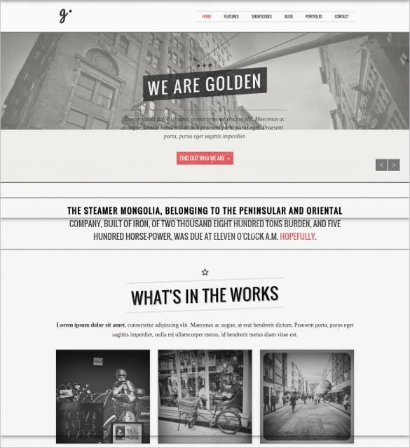 golden responsive vintage wordpress theme 49