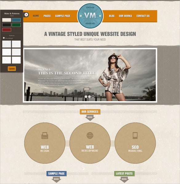vintage immersed wordpress theme