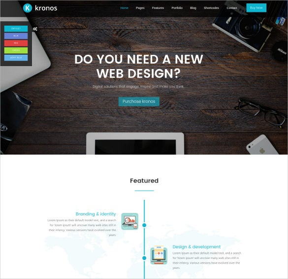 kronos – responsive multipurpose html5 template